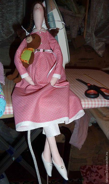 Куклы Тильды ручной работы. Ярмарка Мастеров - ручная работа. Купить Желалочка (беременюшка). Handmade. Розовый, счастье