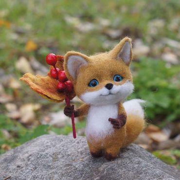 Куклы и игрушки ручной работы. Ярмарка Мастеров - ручная работа Маленький лисенок Люк. Интерьерная игрушка из шерсти. Handmade.