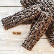 Аксессуары handmade. Livemaster - original item Women`s knitted mittens