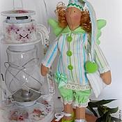 Куклы и игрушки ручной работы. Ярмарка Мастеров - ручная работа Кукла Тильда сонный ангел, сплюшка. Handmade.