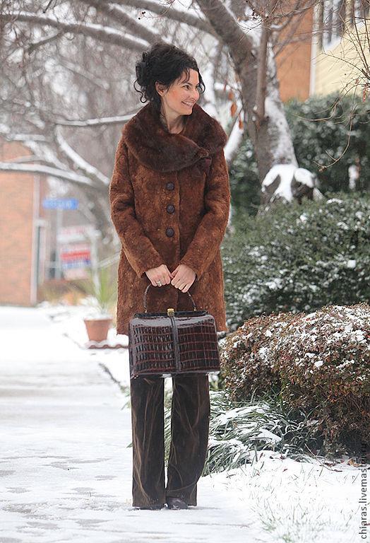 Верхняя одежда ручной работы. Ярмарка Мастеров - ручная работа. Купить зимнее войлочное пальто ручной работы. Handmade. Рыжий