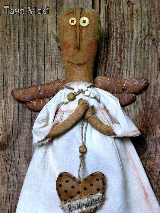 Ароматизированные куклы ручной работы. Ярмарка Мастеров - ручная работа. Купить Ангел Хранитель. Handmade. Ангел, винтаж, бусины деревянные