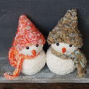 Подарки к праздникам handmade. Livemaster - original item Snowmen set No. №2 of 2 pieces. A gift for the New year 2022. Handmade.