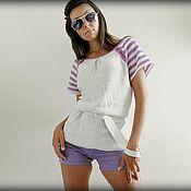 Одежда ручной работы. Ярмарка Мастеров - ручная работа женский летний вязаный топ. Handmade.