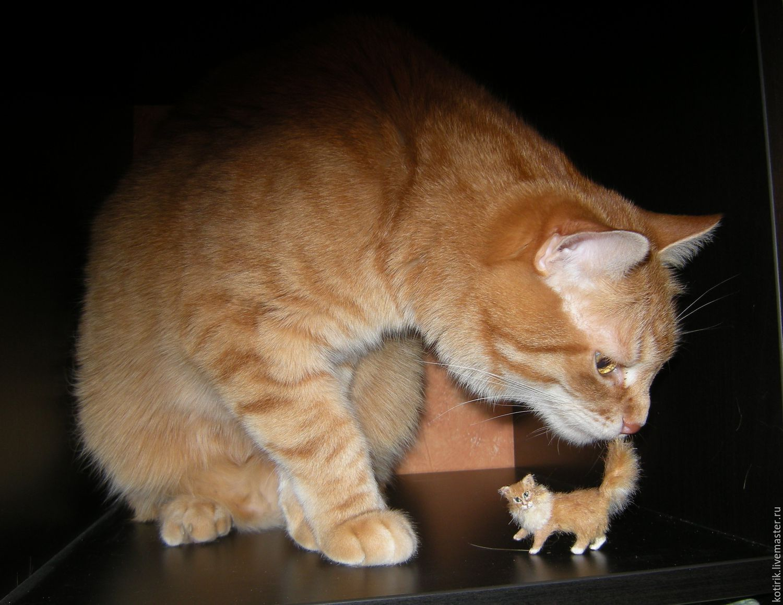 Рыжий кот, Мини фигурки и статуэтки, Люберцы,  Фото №1