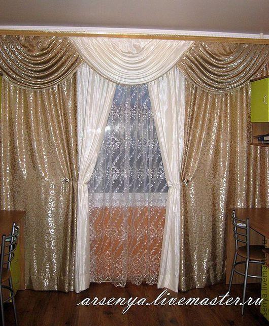 Текстиль, ковры ручной работы. Ярмарка Мастеров - ручная работа. Купить Шторы для гостиной Царица. Handmade. Шторы, портьеры, органза