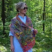 Аксессуары handmade. Livemaster - original item Felted scarf Flower glades, air silk scarf. Handmade.