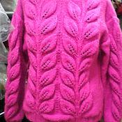 Одежда ручной работы. Ярмарка Мастеров - ручная работа свитер листья. Handmade.
