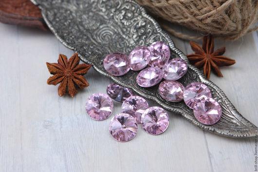 Для украшений ручной работы. Ярмарка Мастеров - ручная работа. Купить Риволи 16 мм Pink (Розовый). Handmade. Розовый