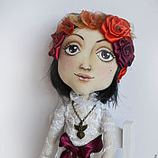 Куклы и игрушки ручной работы. Ярмарка Мастеров - ручная работа Текстильная кукла Бохо-невеста Алинка. Handmade.