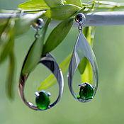 Украшения handmade. Livemaster - original item Earrings with diopside