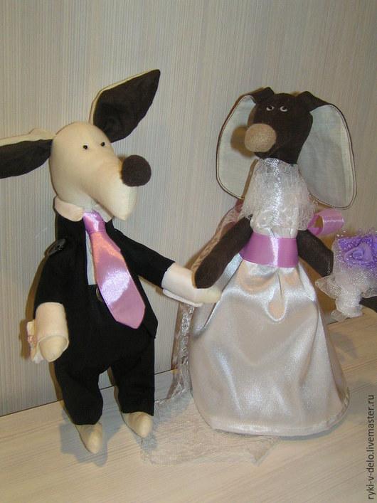 Игрушки животные, ручной работы. Ярмарка Мастеров - ручная работа. Купить свадьба. Handmade. Свадьба, собака свадебные, собаки в подарок