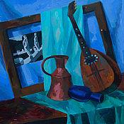Картины и панно ручной работы. Ярмарка Мастеров - ручная работа Натюрморт с мандолиной. Handmade.