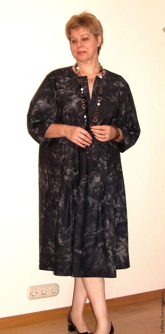 Платья ручной работы. Ярмарка Мастеров - ручная работа. Купить Платье Oversize шерстяное свободное комфортное. Handmade. Темно-серый