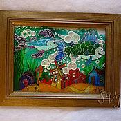"""Картины и панно ручной работы. Ярмарка Мастеров - ручная работа витраж """"град китеж"""". Handmade."""
