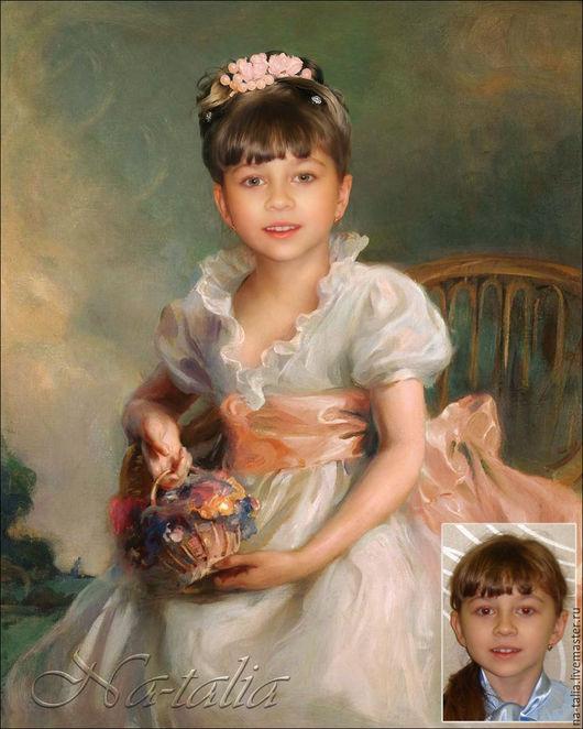 Фото и видео услуги ручной работы. Ярмарка Мастеров - ручная работа. Купить Портрет по фото (коллаж) детский. Handmade. Коллаж