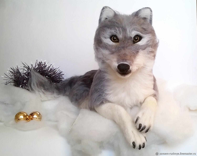 Волк - игрушка из шерсти, Войлочная игрушка, Великие Луки,  Фото №1