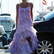 Одежда ручной работы. Ярмарка Мастеров - ручная работа Платье вязаное Испанка в сиреневом. Handmade.