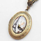 Украшения ручной работы. Ярмарка Мастеров - ручная работа открывающийся кулон с Парижем, медальон для фото, винтажное украшение. Handmade.
