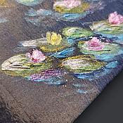 Аксессуары handmade. Livemaster - original item Tie Water Lilies Monet. Handmade.