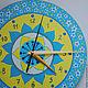 Часы для дома ручной работы. Ярмарка Мастеров - ручная работа. Купить Часы-мандала. Handmade. Синий, часы интерьерные