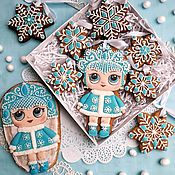 Сувениры и подарки handmade. Livemaster - original item Christmas gingerbread.Set of gingerbread snow maiden. Gingerbread on the Christmas tree. Handmade.