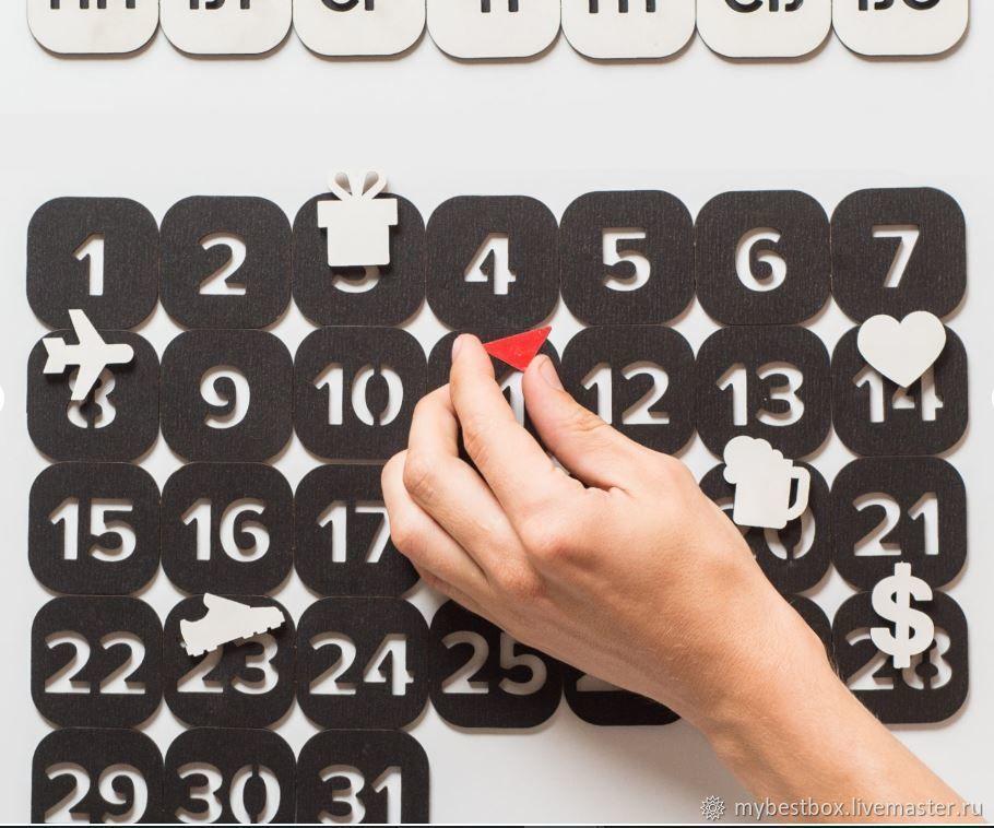 Perpetual calendar black, Calendars, Moscow,  Фото №1