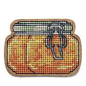 """Материалы для творчества ручной работы. Ярмарка Мастеров - ручная работа Набор для вышивания  магнита """"Персиковое варенье"""" BB-58. Handmade."""