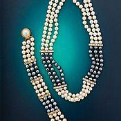 Подарки к праздникам handmade. Livemaster - original item Set with natural pearls and rhinestones. Handmade.