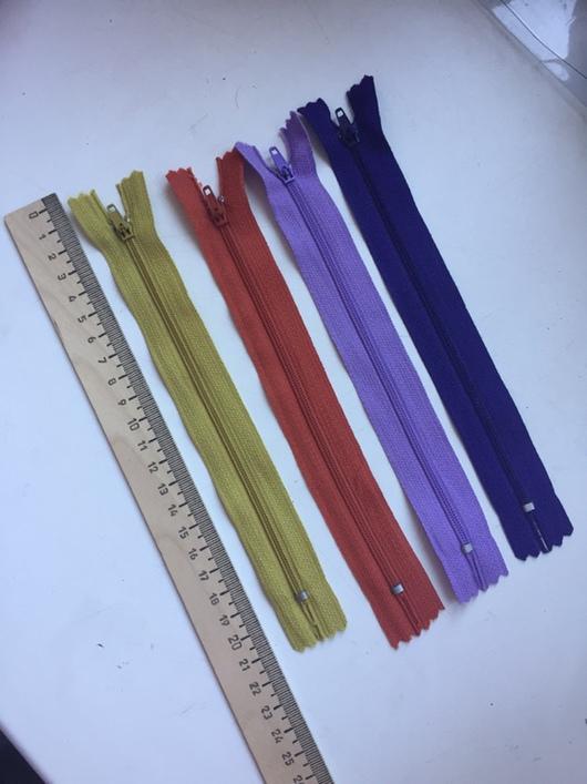 Шитье ручной работы. Ярмарка Мастеров - ручная работа. Купить Молния 23 см, цвета в ассортименте. Handmade. Молния для сумки