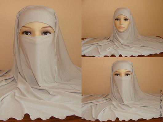 Этническая одежда ручной работы. Ярмарка Мастеров - ручная работа. Купить Хиджаб трансформер никаб. Handmade. Тёмно-синий, хиджаб
