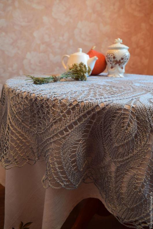 Текстиль, ковры ручной работы. Ярмарка Мастеров - ручная работа. Купить Скатерть квадратная спицами. Handmade. Скатерть, скидка