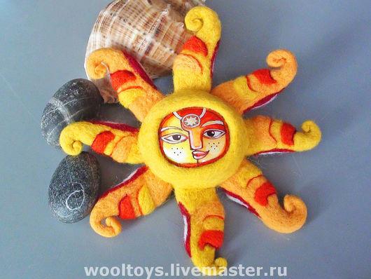 """Детская ручной работы. Ярмарка Мастеров - ручная работа. Купить Интерьерная игрушка """"Солнце"""". Handmade. Интерьерная игрушка, солнце, керамика"""