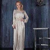 Одежда ручной работы. Ярмарка Мастеров - ручная работа Вечернее платье из блестящего плиссе. Handmade.