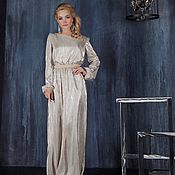 Одежда handmade. Livemaster - original item Evening dress shiny pleated. Handmade.