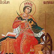 Картины и панно handmade. Livemaster - original item The Great Martyr Catherine Of Alexandria. Handmade.