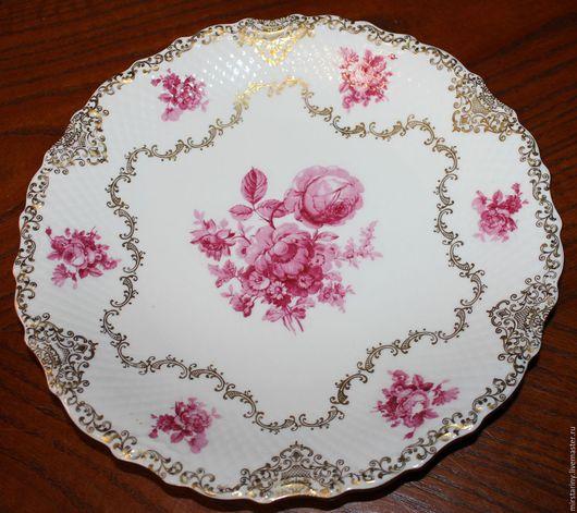 Винтажная посуда. Ярмарка Мастеров - ручная работа. Купить Восхитительное, старинное, блюдо от Schumann, Германия, 1949 г. Handmade. Розовый