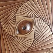 Картины и панно ручной работы. Ярмарка Мастеров - ручная работа Резное дерево_Око Души. Handmade.