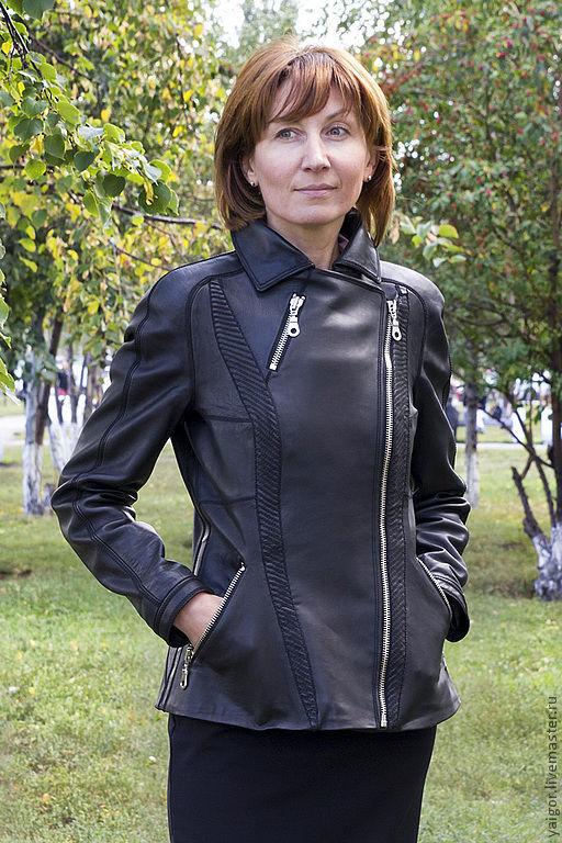 """Верхняя одежда ручной работы. Ярмарка Мастеров - ручная работа. Купить Кожаная куртка """"Подруга байкера"""". Handmade. Кожаная куртка"""