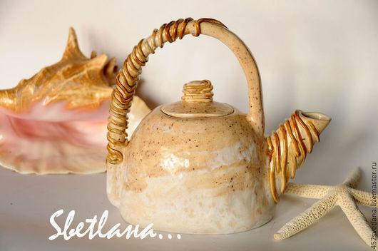 Заварочной керамический чайник.  Авторский чайник ручной работы. Sвеtlaна... Ярмарка мастеров.