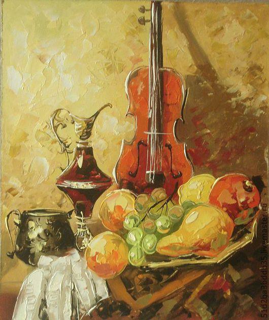 Натюрморт ручной работы. Ярмарка Мастеров - ручная работа. Купить натюрморт со скрипкой. Handmade. Картина, картина в подарок