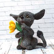 Куклы и игрушки ручной работы. Ярмарка Мастеров - ручная работа Флаффи. Валяная игрушка из шерсти. Handmade.
