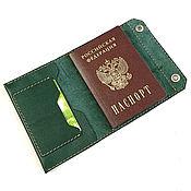 Сумки и аксессуары handmade. Livemaster - original item Documentsize Lada green. Handmade.