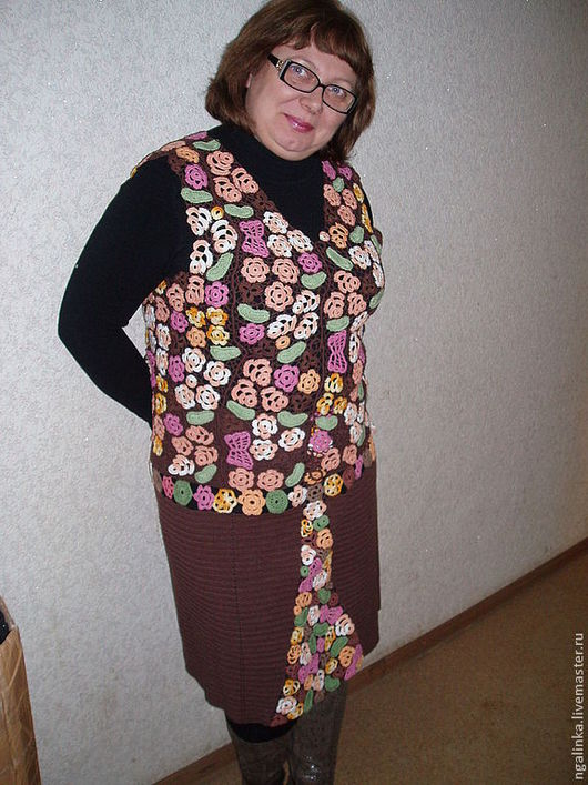 Большие размеры ручной работы. Ярмарка Мастеров - ручная работа. Купить костюм из хлопка Для Наташи. Handmade. Цветочный