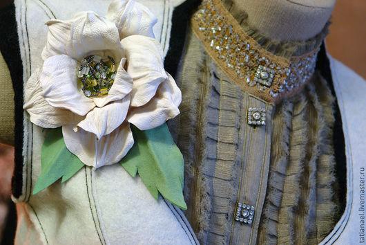 Цветы ручной работы. Ярмарка Мастеров - ручная работа. Купить Авторская брошь - цветок «Сэль». Handmade. Брошь, брошь роза