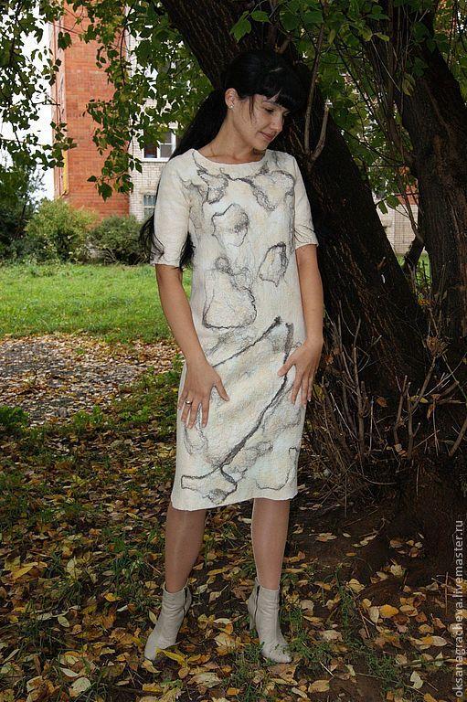Авторское войлочное платье\r\nGracheva  Oksana