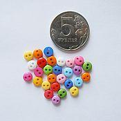 Пуговицы ручной работы. Ярмарка Мастеров - ручная работа Пуговки mini (6 мм ). Handmade.