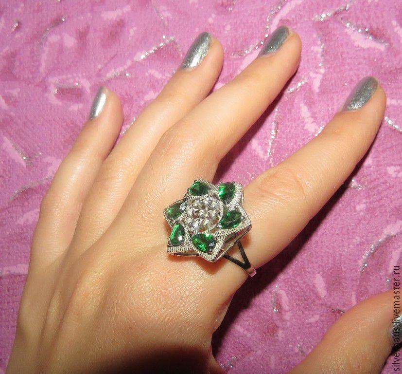 """Колье, бусы ручной работы. Ярмарка Мастеров - ручная работа. Купить кольцо """"Фортуна"""" из серебра 925 пробы с кварцем. Handmade."""