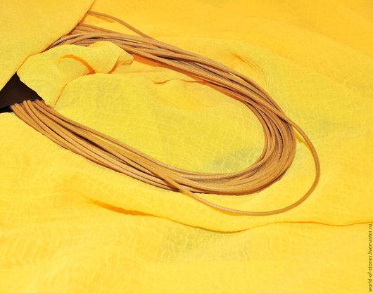 Колье, бусы ручной работы. Ярмарка Мастеров - ручная работа. Купить Вощеный шнурок с серебряным замком. Handmade. Разноцветный, шнурок