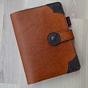Канцелярские товары handmade. Livemaster - original item Leather notebook with A5 rings. Handmade.
